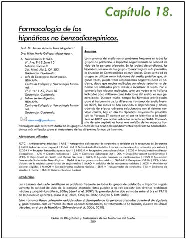 Portada del capítulo FARMACOLOGIA DE LOS HIPNÓTICOS NO BENZODIACEPÍNICOS