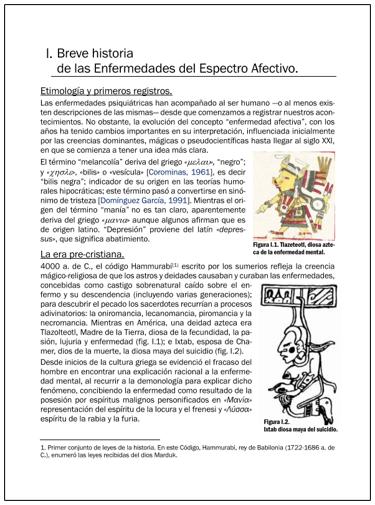 Portada del Capítulo BREVE HISTORIA DE LAS ENFERMEDADES DEL ESPECTRO AFECTIVO