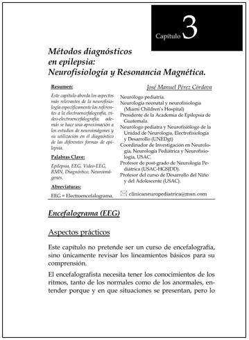 Portada del capítulo METODOS DIAGNÓSTICOS EN EPILEPSIA: NEUROFISIOLOGÍA Y RESONANCIA MAGNÉTICA.